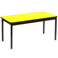 Correll LT2460-38 24 inch x 60 inch Yellow Lab Table - 36 inch Height