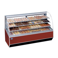 Federal SN-77 77 inch Series '90 Double-Curved Glass Dry Bakery Case