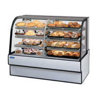 Federal CGR7748DZ 77 inch x 48 inch Curved Glass Dual Zone Refrigerated Bakery Case