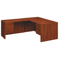 HON 10783RCO 10700 Series 66 inch x 30 inch x 29 1/2 inch Cognac Laminate L Right 3/4 Height Pedestal Desk