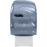 San Jamar T7090TBL Simplicity Oceans Hands Free Paper Towel Dispenser - Arctic Blue