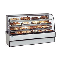 Federal CGR7748 77 inch x 48 inch Curved Glass Refrigerated Bakery Case