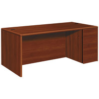 HON 10787RCO 10700 Series 72 inch x 36 inch x 29 1/2 inch Cognac Laminate Right Full Height Pedestal Desk