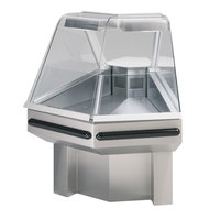 Federal SQ-ROC45R Stainless Steel Full Service Glass Remote Condenser Refrigerated Deli Case - 45 Degree Outside Corner