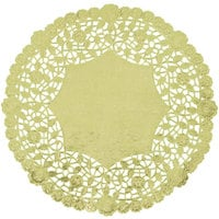 10 inch Gold Foil Lace Doily - 500/Case