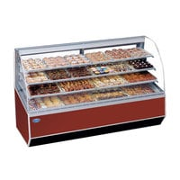 Federal SN-96 96 inch Series '90 Double-Curved Glass Dry Bakery Case
