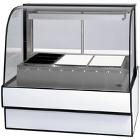 Federal Industries CG5948HD 59 inch Full Service Heated Display Case with Curved Front - 120/208-240V