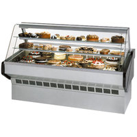 Federal SQ-6CB 72 inch Market Series Curved Glass Refrigerated Bakery Case