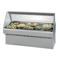 Federal SQ-6CD 72 inch Market Series Curved Glass Refrigerated Deli Case