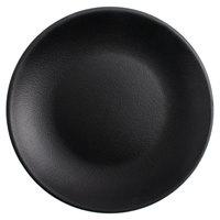 Tuxton VBA-071 TuxTrendz Zion Matte Black 7 1/8 inch Coupe China Plate - 36/Case