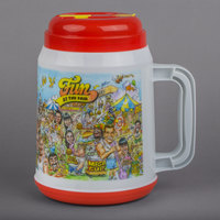 64 oz. Fun at the Fair Tanker with Spout, Straw, and Lid - 12/Case
