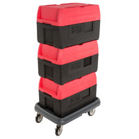 Metro Mightylite BigBoy Top Loading Full Size Insulated EPP Pan Carrier Kit with Three Carriers and Dolly