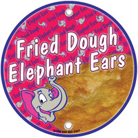 12 inch Round Concession Stand Sign with Elephant Ears Design - 2/Pack