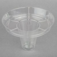 8 oz. Clear Plastic Sno-Cone Cup with Glowstick Groove   - 900/Case