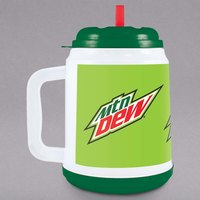 32 oz. Mountain Dew™ Mini Tanker with Straw and Lid - 24/Case