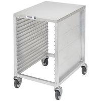 Channel 615/A 16 Pan End Load Semi-Enclosed Work Top Aluminum Bun / Sheet Pan Rack - Assembled