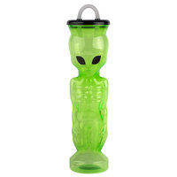 28 oz. Green Alien Bottle with Lid and Straw - 36/Case