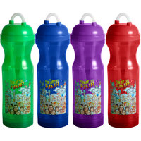 32 oz. Assorted Color Flashing Fun at the Fair Gripster Souvenir Cup with Lid and Straw   - 38/Case