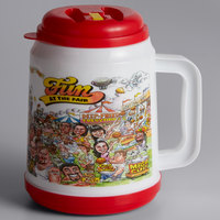 32 oz. Fun at the Fair Mini Tanker with Spout, Straw, and Lid - 24/Case