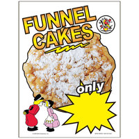 12 inch x 16 inch Window Cling with Funnel Cake Design