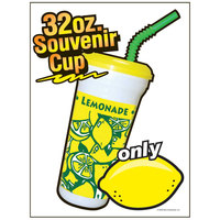 12 inch x 16 inch Window Cling with Lemonade Souvenir Cup Design