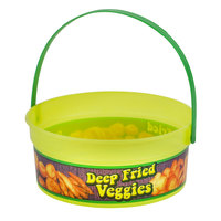 24 oz. Plastic Concession Bucket Deep Fried Veggies Design and Handle - 200/Case