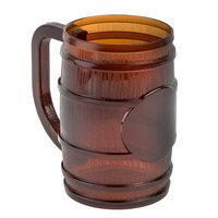 16 oz. Translucent Brown Plastic Barrel Mug - 96/Case