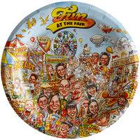 9 inch Fun at the Fair Paper Plate - 1000/Case
