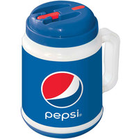 64 oz. Pepsi™ Tanker with Spout, Straw, and Lid - 12/Case