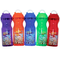 32 oz. Assorted Color Fun at the Fair Gripster Souvenir Cup with Lid and Straw - 40/Case