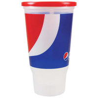 32 oz. Economy Car Cup with Pepsi™ Design and Red Lid - 504/Case