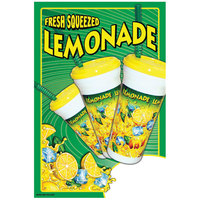 12 inch x 16 inch Window Cling with Fresh Squeezed Lemonade Design