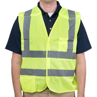 Lime Class 2 High Visibility 5 Point Breakaway Safety Vest - Large