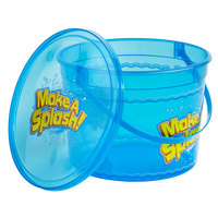 64 oz. Plastic Concession Bucket with Make a Splash Design, Handle, and Lid   - 100/Case