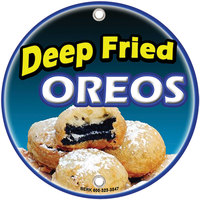 12 inch Round Concession Stand Sign with Fried Oreos Design - 2/Pack