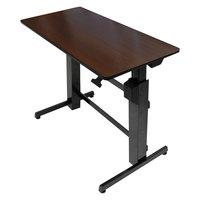 WorkFit by Ergotron 24271927 Walnut and Black Sit-Stand Workstation / Stand Up Desk - 47 5/8 inch x 23 1/2 inch x 50 5/8 inch