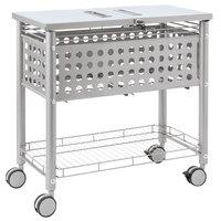 Vertiflex VF52001 29 1/8 inch x 14 inch x 28 3/8 inch Matte Gray Smartworx Locking Top File Cart