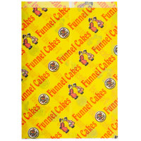 11 inch x 15 inch x 1 1/2 inch Funnel Cake Bag with Funnel Cake Design   - 1000/Case