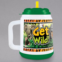 32 oz. Get Wild Mini Tanker with Straw and Lid - 24/Case