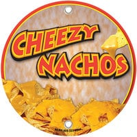 12 inch Round Concession Stand Sign with Cheezy Nachos Design - 2/Pack