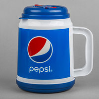 32 oz. Pepsi™ Mini Tanker with Spout, Straw, and Lid - 24/Case
