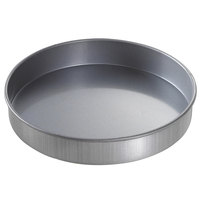 Chicago Metallic 49155 9 inch x 1 1/2 inch Glazed Aluminized Steel Round Customizable Cake Pan