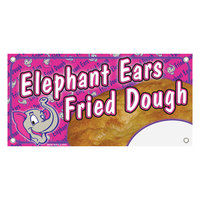 12 inch x 24 inch Rectangular Concession Stand Sign with Elephant Ears Design