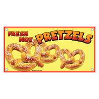 12 inch x 24 inch Rectangular Concession Stand Sign with Pretzel Design