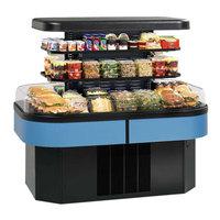Federal IMSS60SC-2 60 inch Island Self-Service Air Curtain Merchandiser with 2 Adjustable Shelves