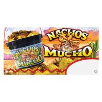 12 inch x 24 inch Rectangular Concession Stand Sign with 48 oz. Nachos Mucho Design