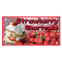 12 inch x 24 inch Rectangular Concession Stand Sign with Strawberry Shortcake Design