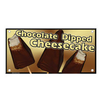 12 inch x 24 inch Rectangular Concession Stand Sign with Cheesecake Design