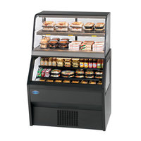 Federal CH3628/RSS6SC 72 inch Black Dual Service Dual Temperature Merchandiser with Heated Top Display