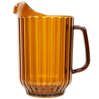 Cambro P600CW153 Camwear 60 oz. Amber Customizable Plastic Pitcher